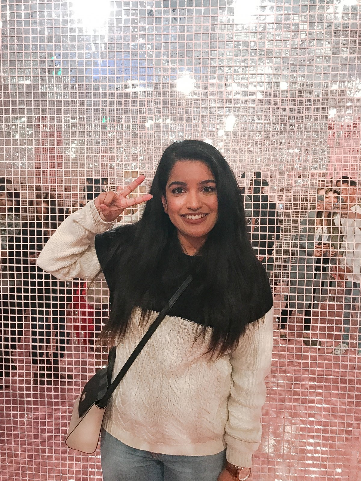 Museum of Ice Cream Mirror Glitter Wall Pose