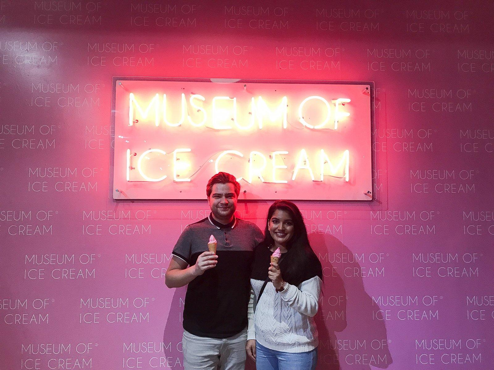 Museum of Ice Cream Lit Sign
